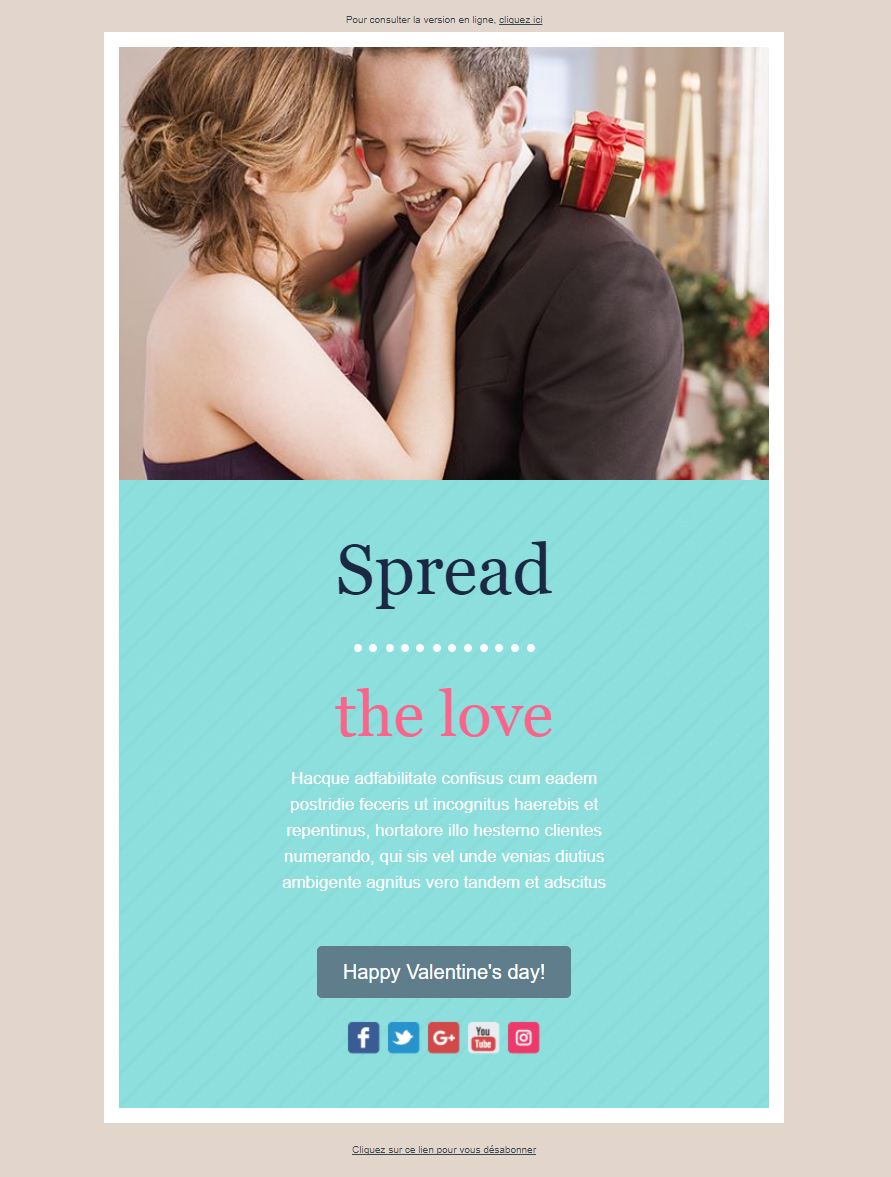Templates Emailing loveDay Sarbacane