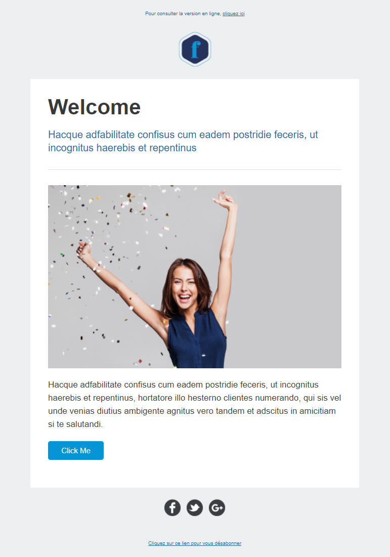 Templates Emailing Welcome Sarbacane