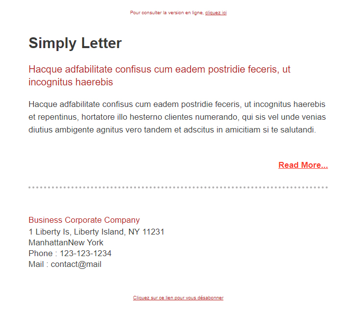 Templates Emailing SimplyLetter Sarbacane
