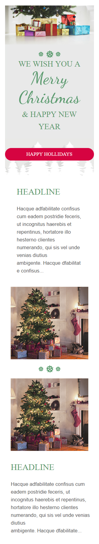 Templates Emailing Christmas Sarbacane
