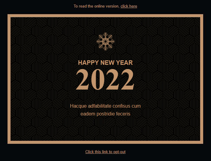 Templates Emailing NewYear Sarbacane