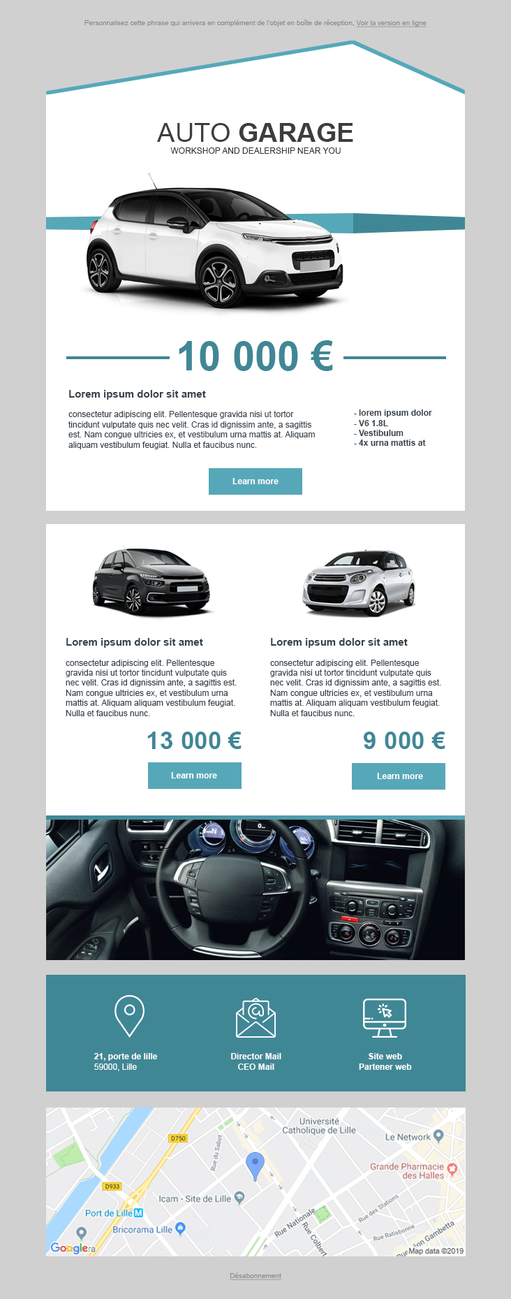 Templates Emailing Automobile Sarbacane