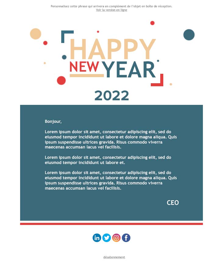 Happy new year newsletter