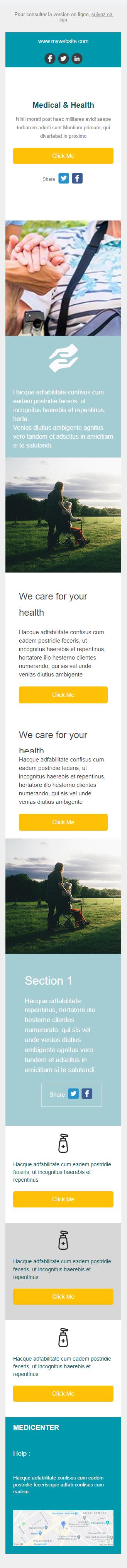 Templates Emailing MediCenter Sarbacane
