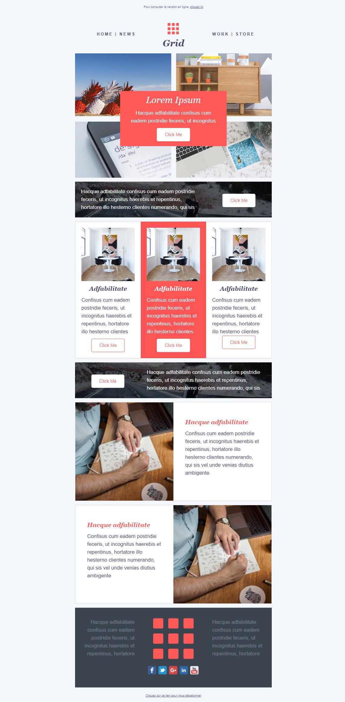 Templates Emailing Grid Sarbacane