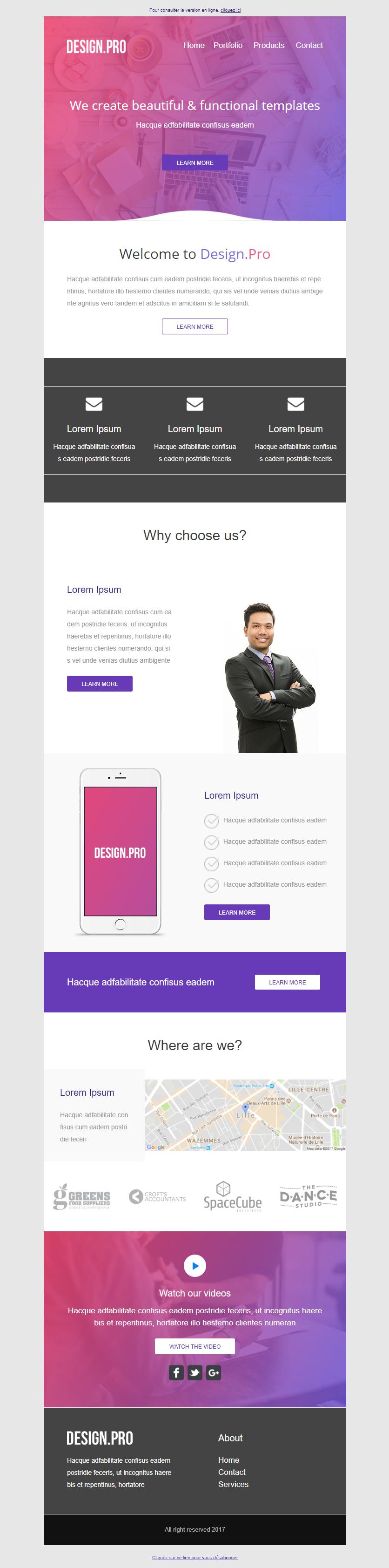 Templates Emailing Designpro Sarbacane