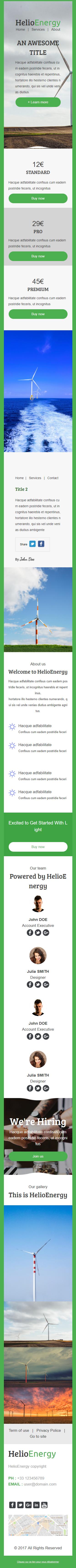 Templates Emailing Helio Energy Sarbacane