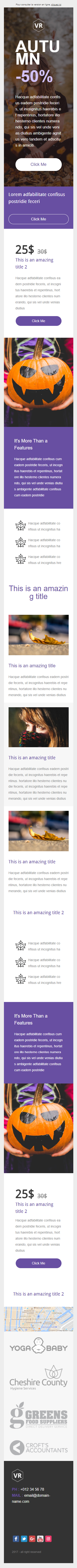 Templates Emailing VR Autumn Sarbacane