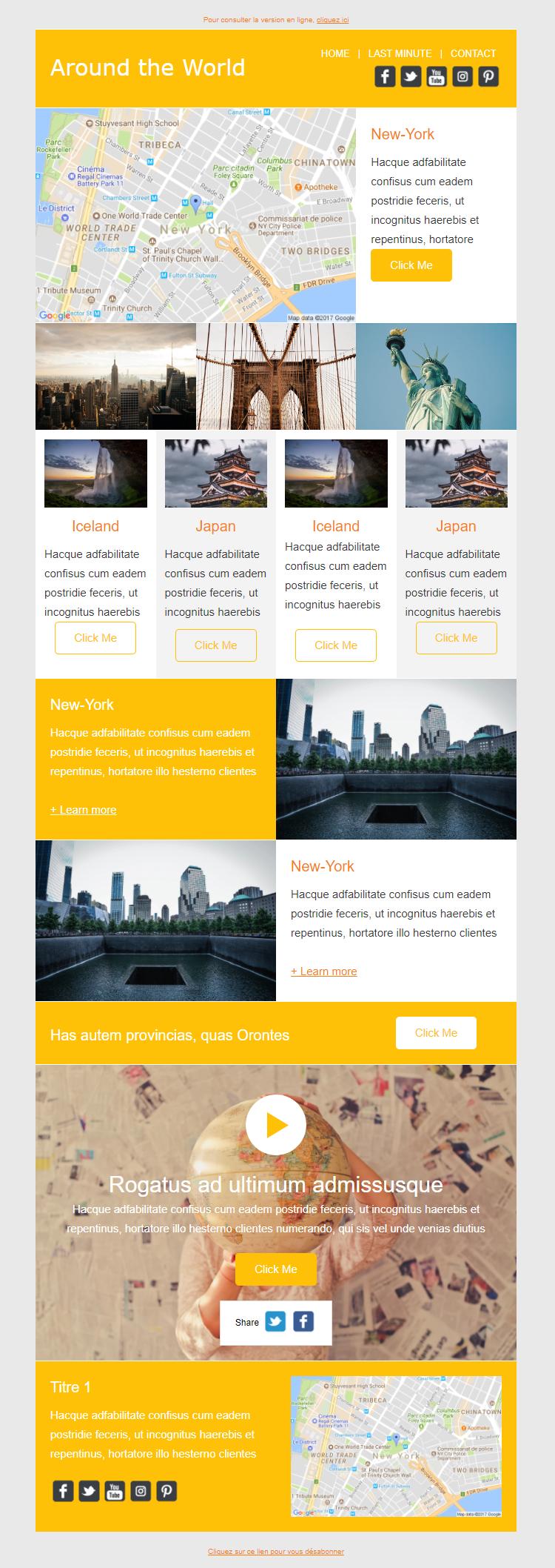 Templates Emailing AroundTheWorld Sarbacane