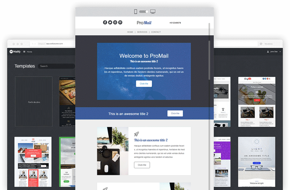 Screen Emailbuilder